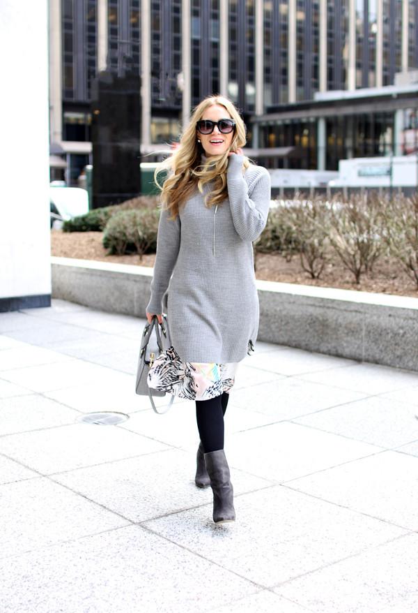 36dac0552 Layered Sweater Dress - Style Cusp