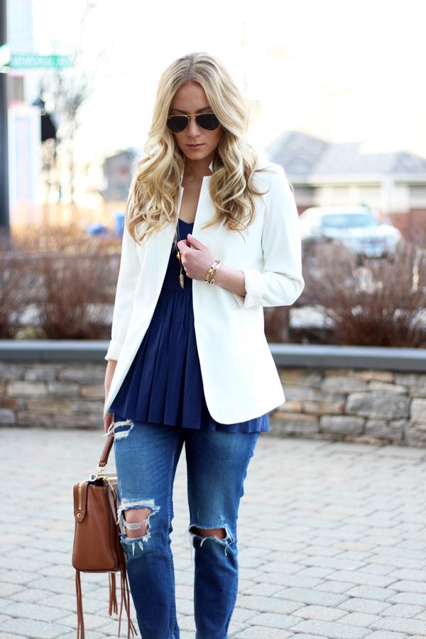 White-Blazer-Ripped-Jeans
