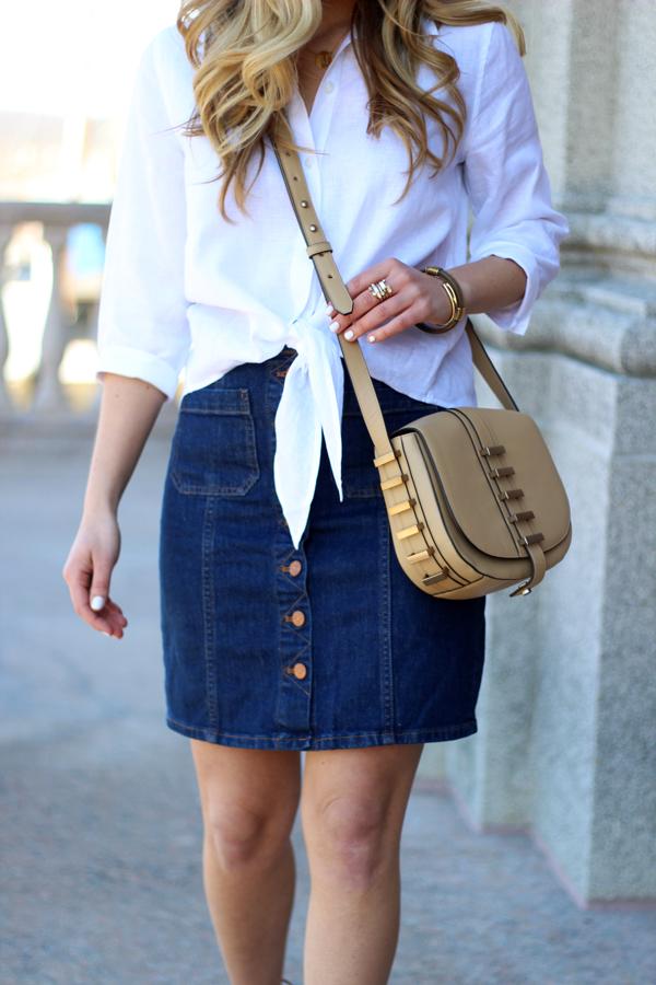 Button-Down-Denim-Skirt