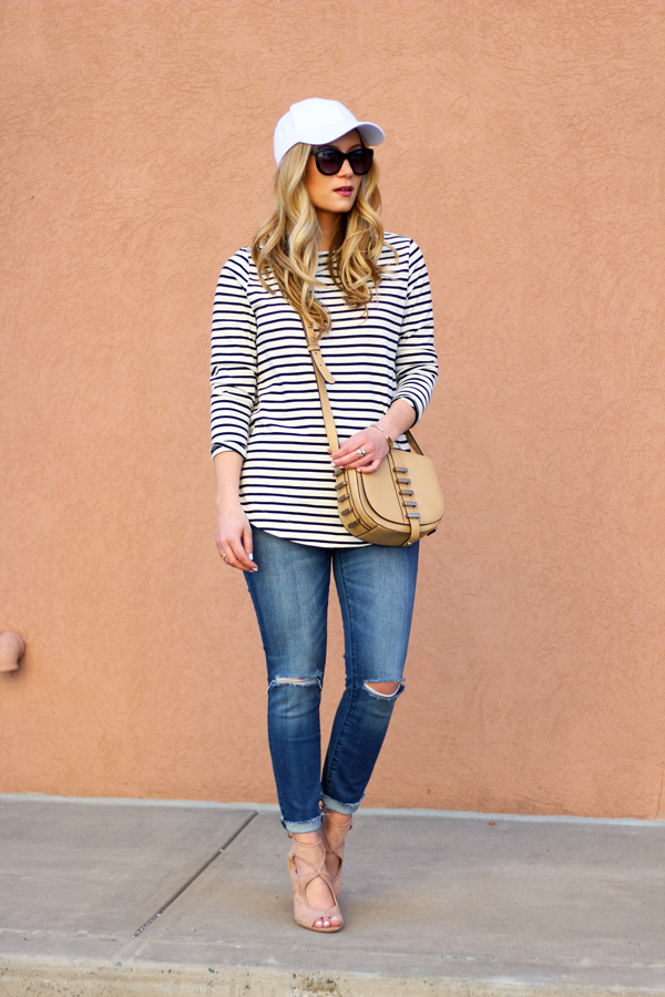 Madewell-Jeans-Striped-top