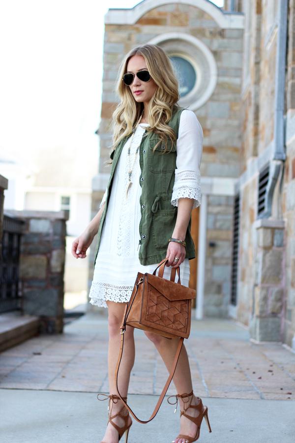 Tan-Suede-Handbag-Green-Utility-Vest