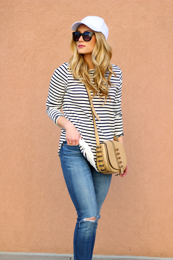 striped-tee-baseball-cap-casual