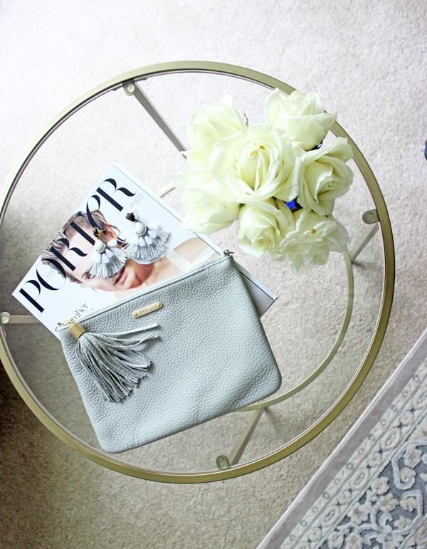 Fresh-Flowers-Gray-Gigi-New-York-Clutch-Tassel-Earrings