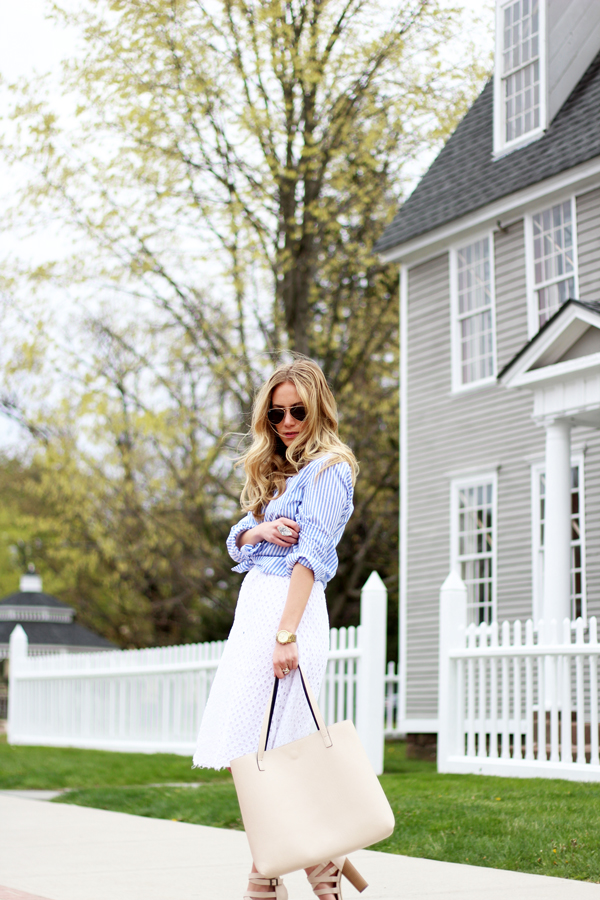 Southern-Charm-Spring-Style-Striped-Shirt-Eyelet-Skirt