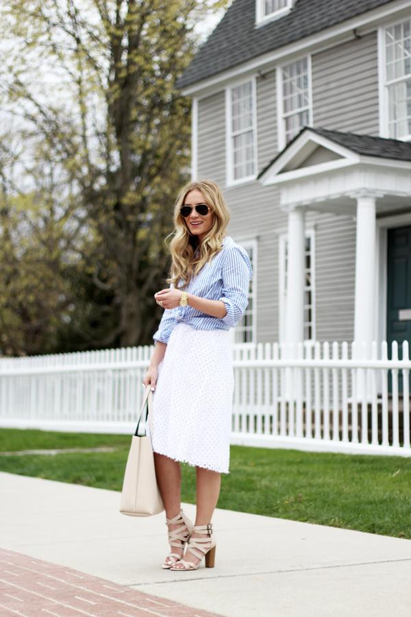 Striped-Shirt-Eyelet-Skirt-Spring-Style