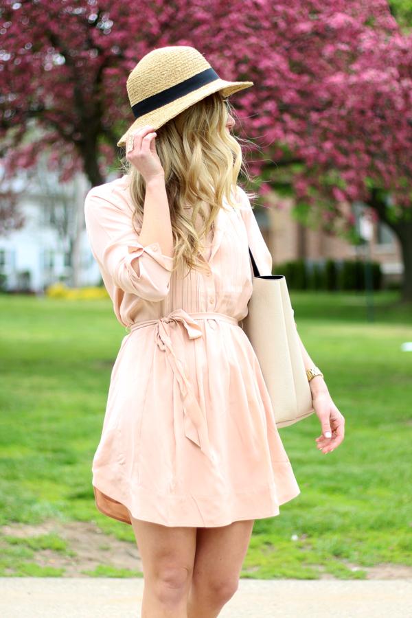 Summer-Sun-Hat-Blush-Pink-Shirtdress