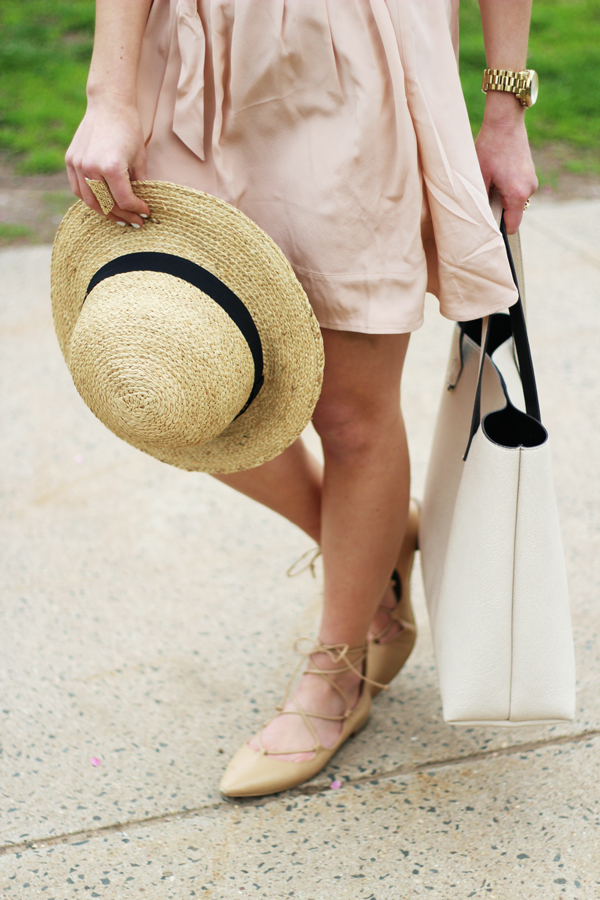 Summer-Sun-Hat-Tan-Lace-Up-Flats