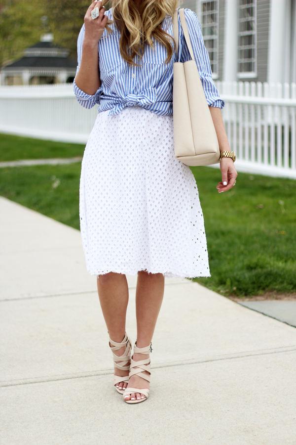 White-Eyelet-Skirt - Style CuspStyle Cusp