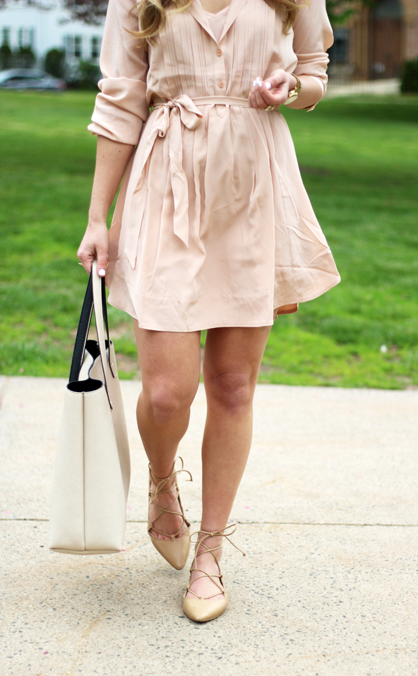 Zara-Lace-Up-Flats-Nude-Tote