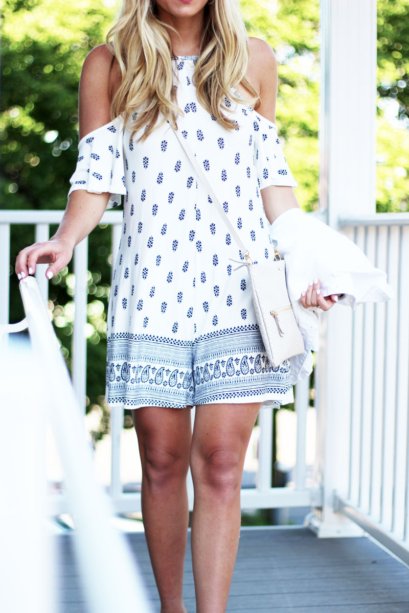 Cute-Blue-Printed-Summer-Romper,-Blogger-Style