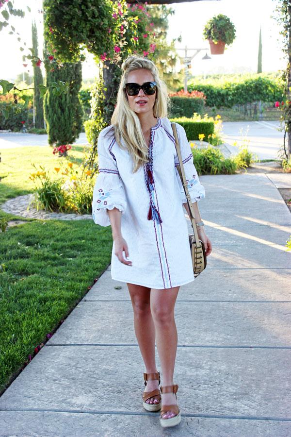 Endless-Rose-Embroidered-Shift-Dress-Tassels-Flatform-Sandals