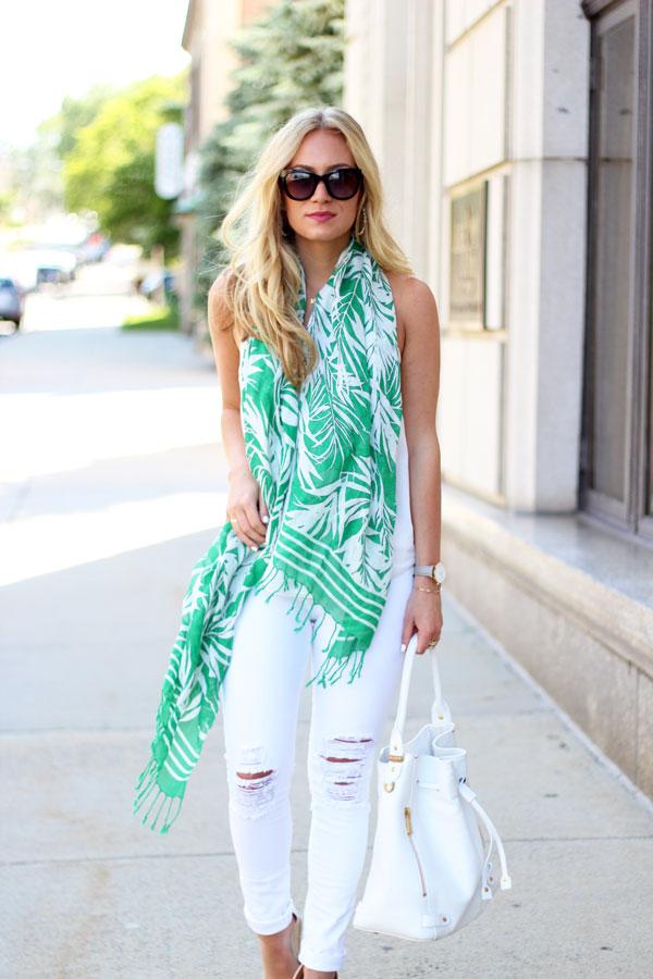 Palm-Leaf-Print-Scarf