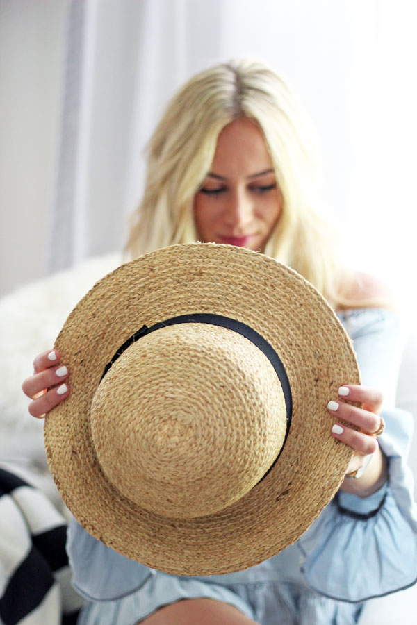 Straw-Boater-Hat-Summer-Hair-Care