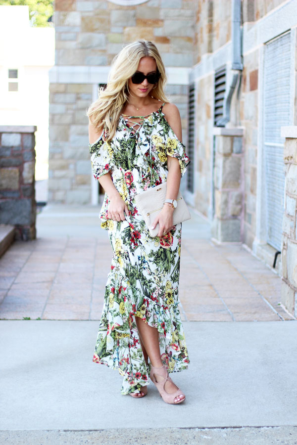 0235a31bc2a Style-Cusp-Summer-Floral-Maxi-Dress-Cold-Shoulder ...