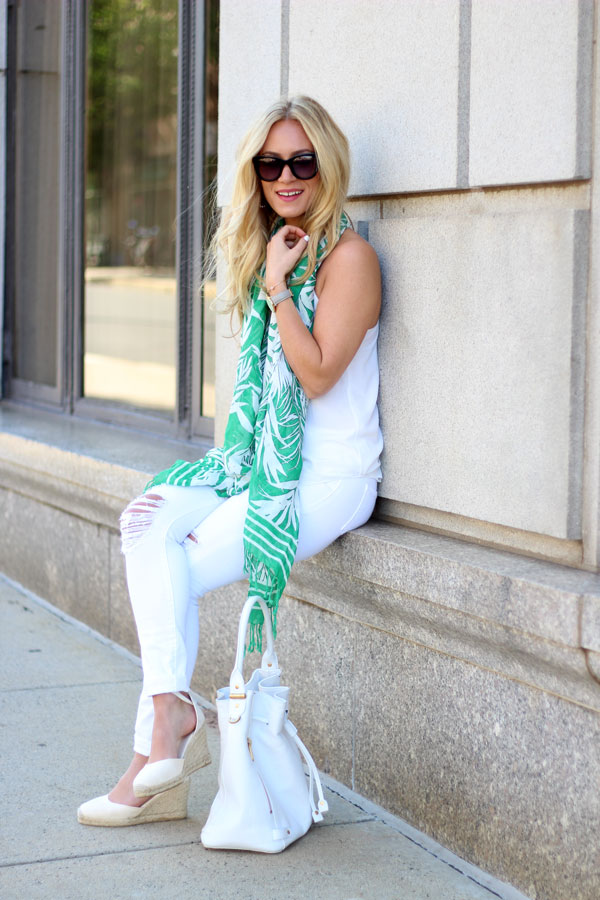 White-Bucket-Bag-Printed-Summer-Scarf