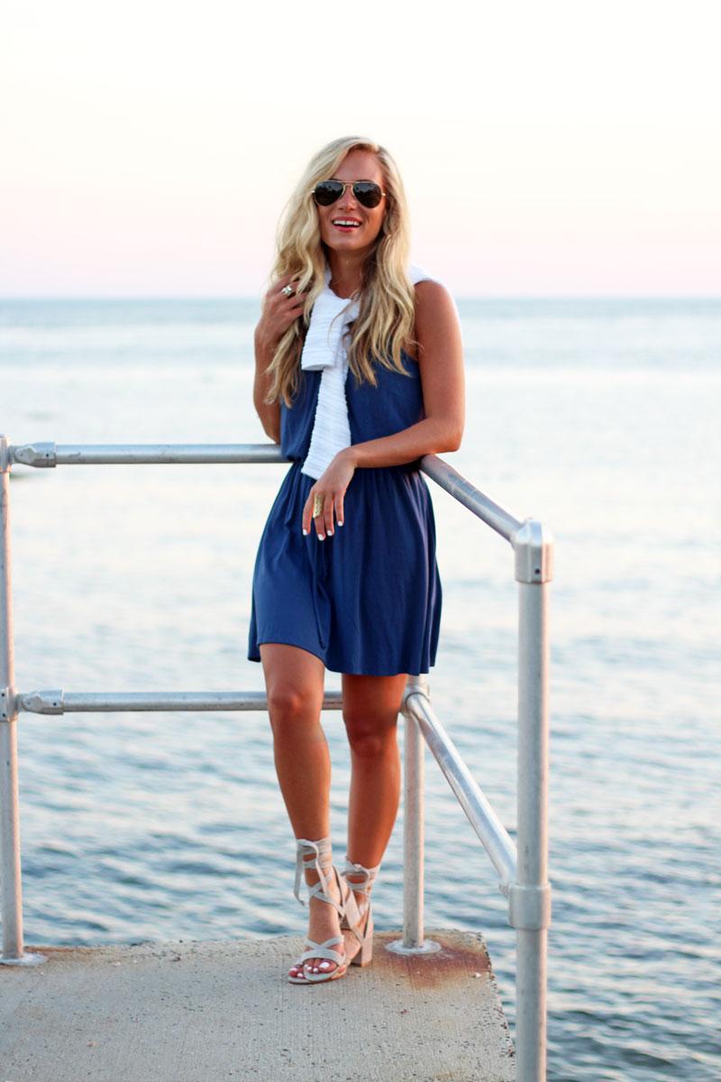 Blue-Swing-Dress-Ivanka-Lace-Up-Heels