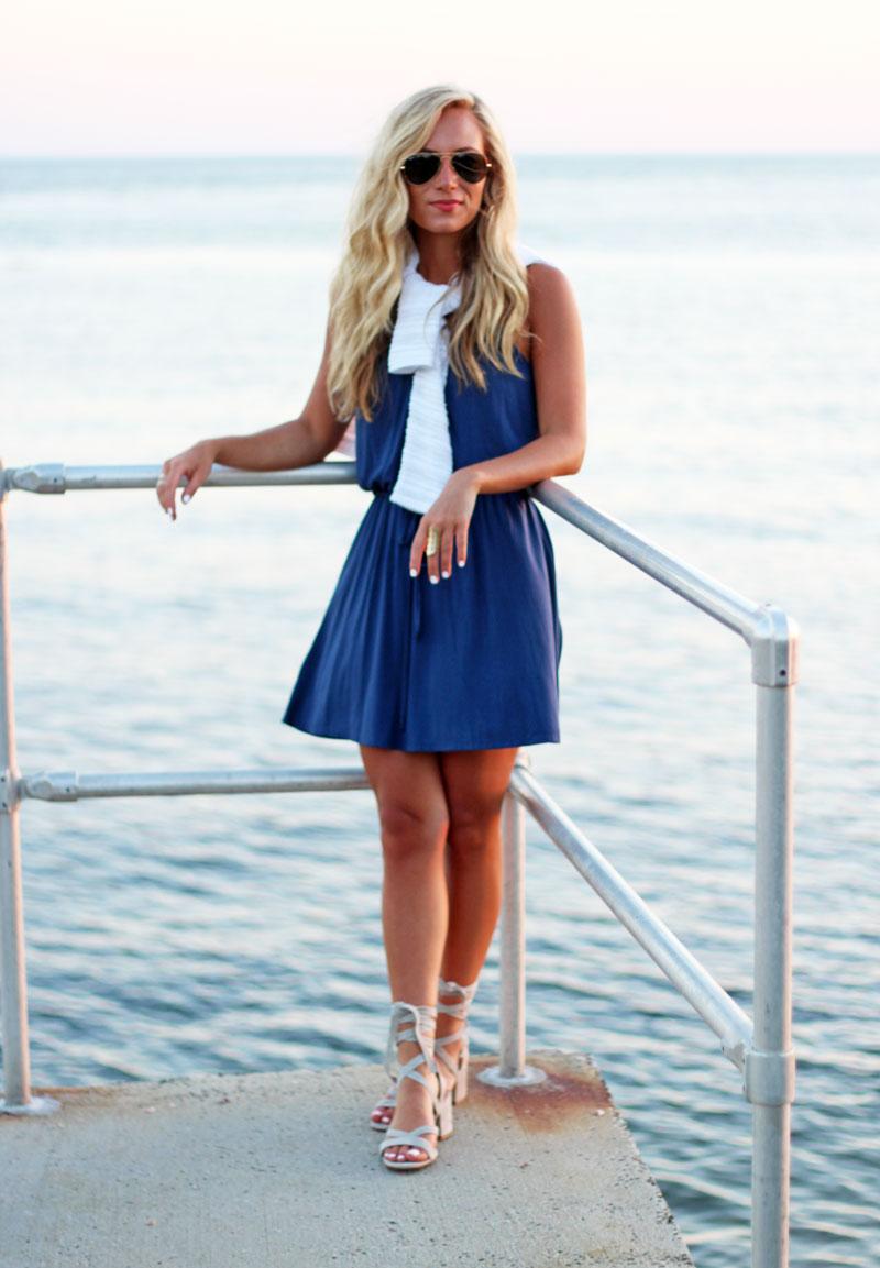 Blue-Swing-Dress-Summer-Night-Style