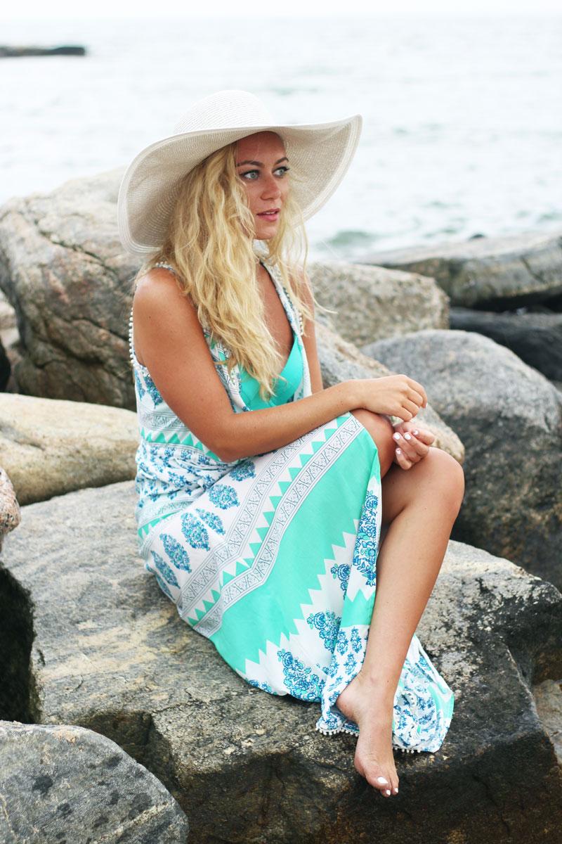 Eacho-Swimwear-Beach-Coverup-Pom-Pom-Floppy-Hat