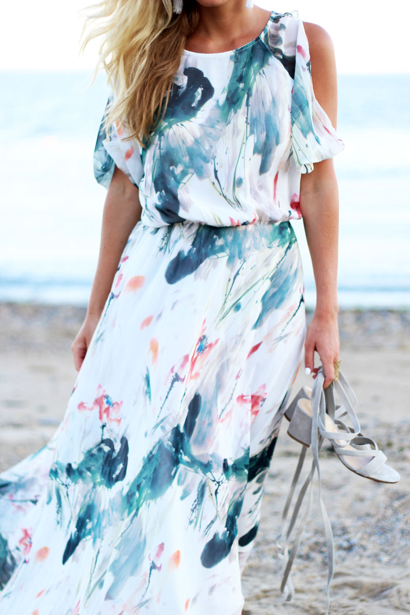 Gorgeous-Printed-Maxi-Dress-GRay-Lace-Up-Sandals