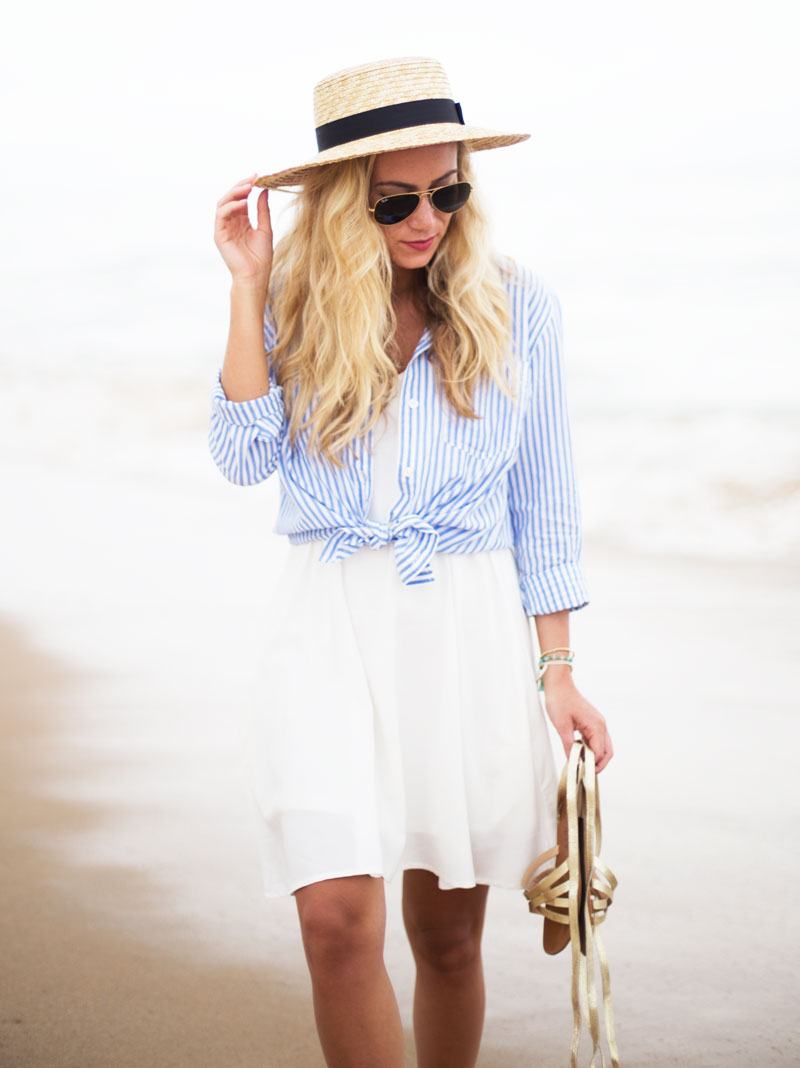 Straw-Boater-Hat-Hamptons-Style-Striped-Top