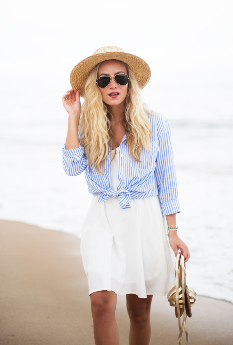 Striped-Button-Down-Top-Boater-Hat