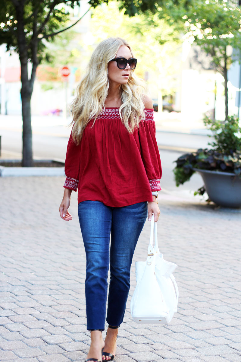 7acd68560f2a8 ... Maroon-Off-Shoulder-Top-skinny-Jeans-Black-Strappy-