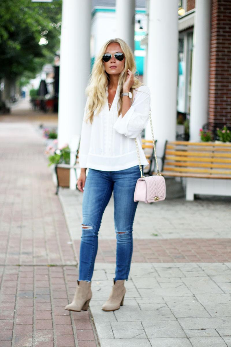 Style-Cusp-Rebecca-Minkoff-Love-Handbag-Boho-White-Blouse-Distressed-Madewell-Denim-Tan-Booties