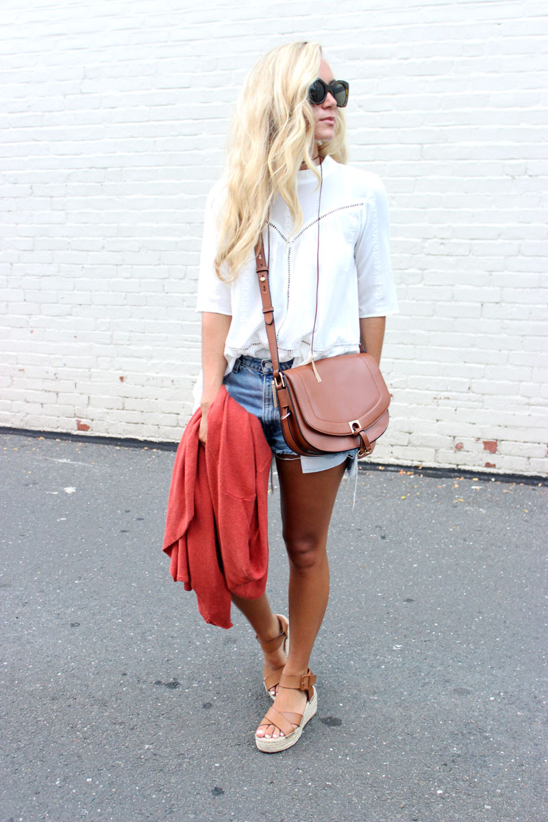 White-Top-with-Cutoff-Shorts-Crossbody-Bag-Weekend-Casual-STyle