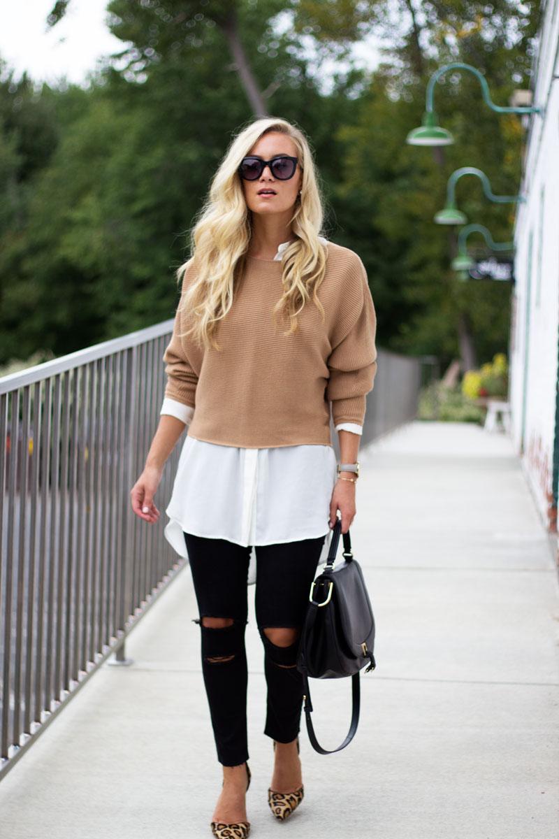 camel-dolman-sleeve-sweater-black-ripped-jeans