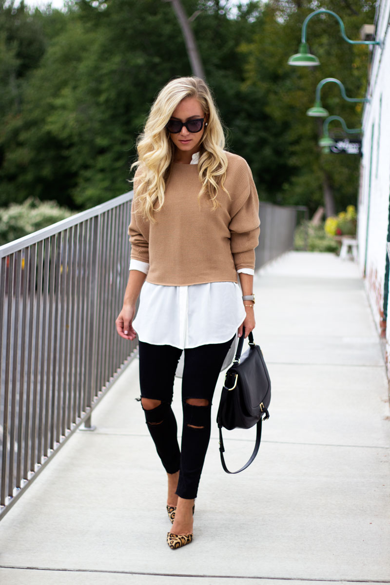 dolman-sleeve-sweater-ripped-black-jeans-leopard-pumps-fall-style