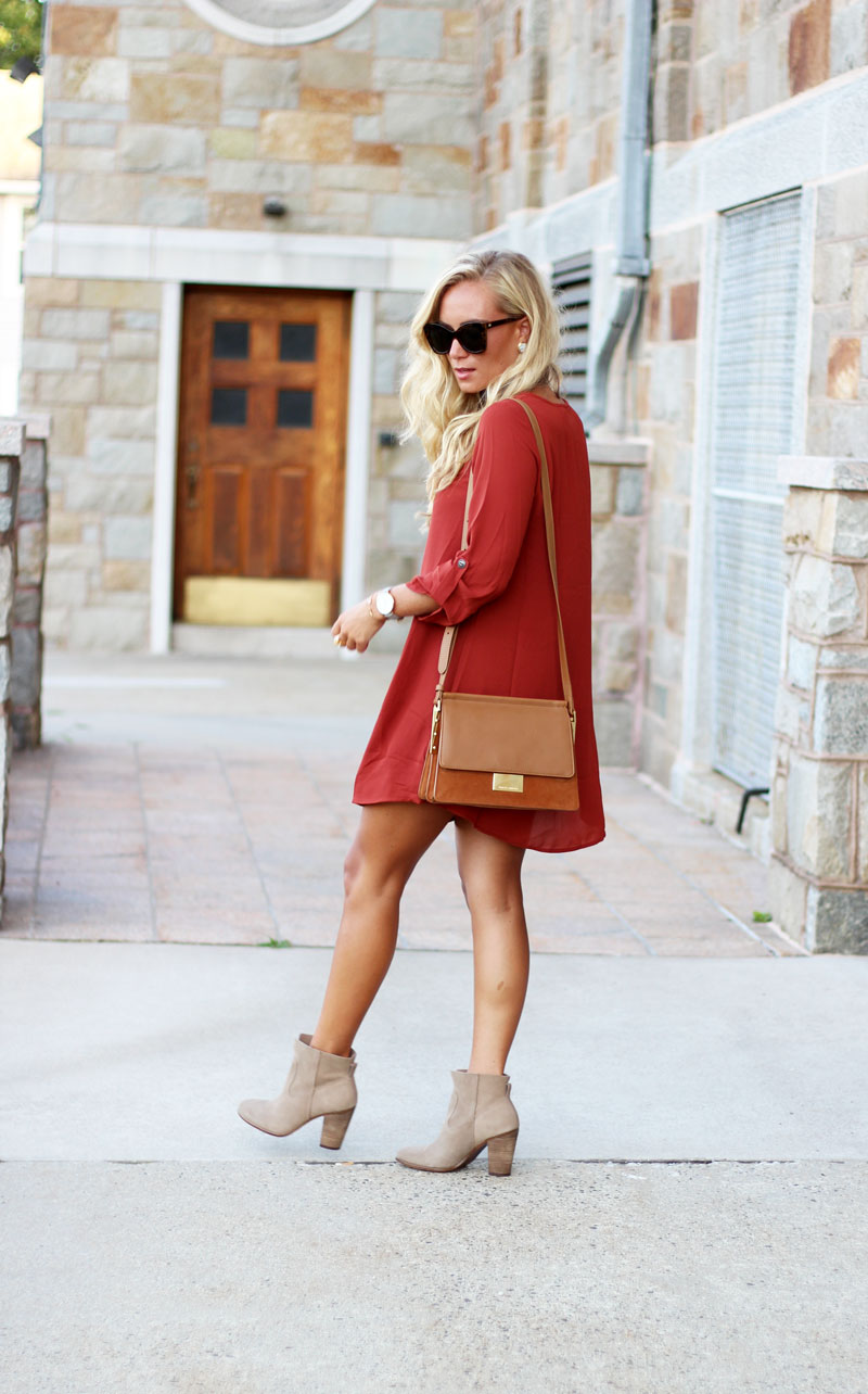 Fall-Dress-with-Tan-Booties-Easy-Fall-Style