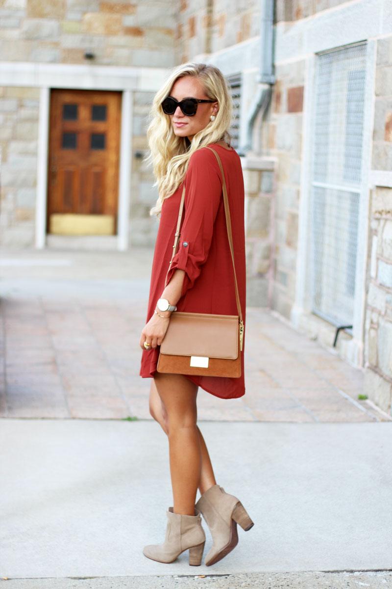Fall-Shift-Dress-Tan-Booties-Cognac-Crossbody-Bag-Street-Style-Blogger-Fall-Nordstrom
