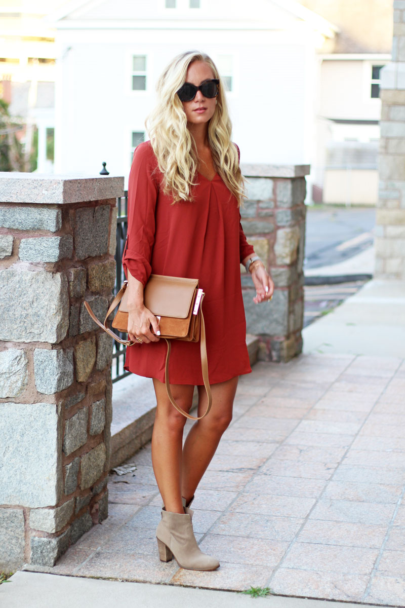 Fall-Transition-Outfit-Dress-with-Booties