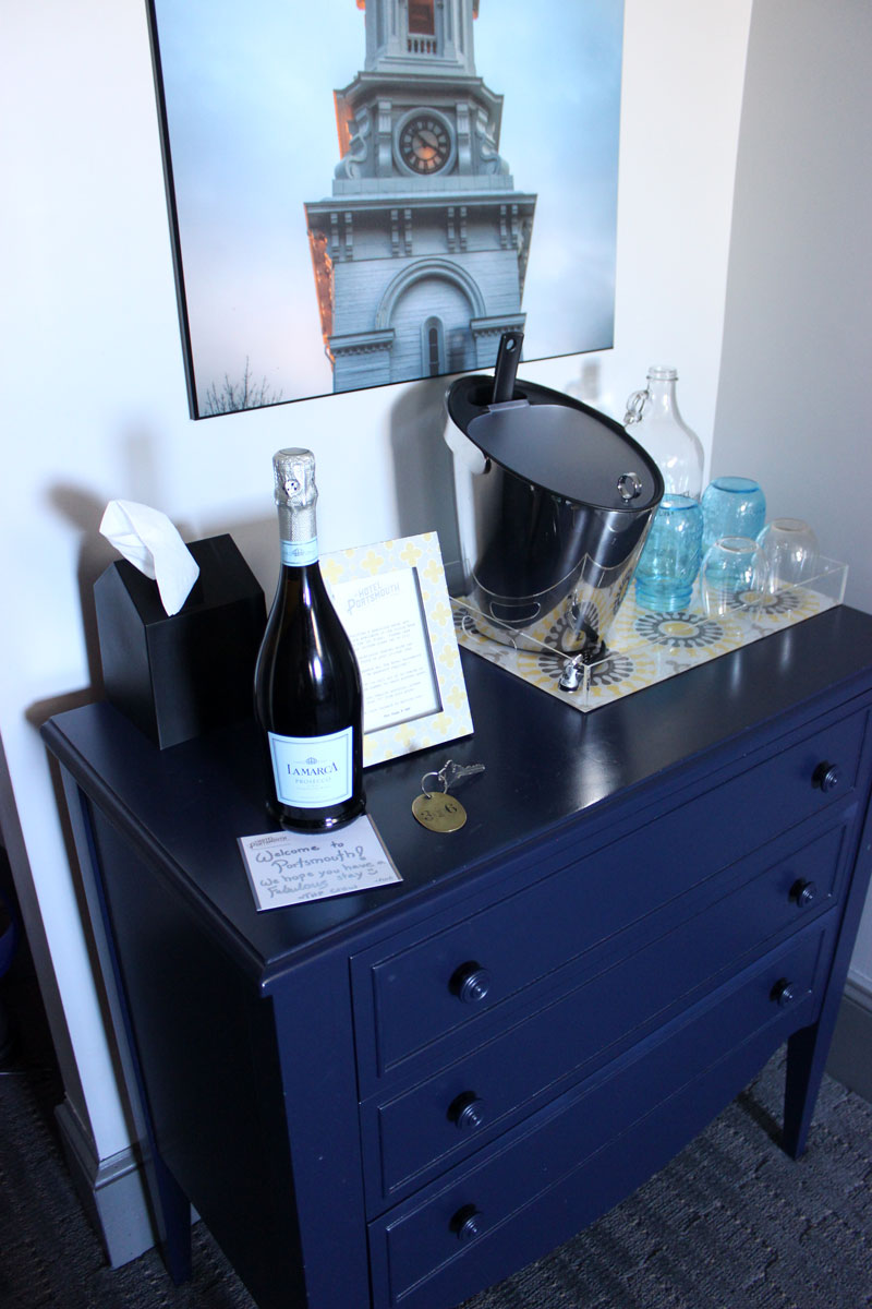 hotels-portsmouth-new-hampshire-champagne-welcome