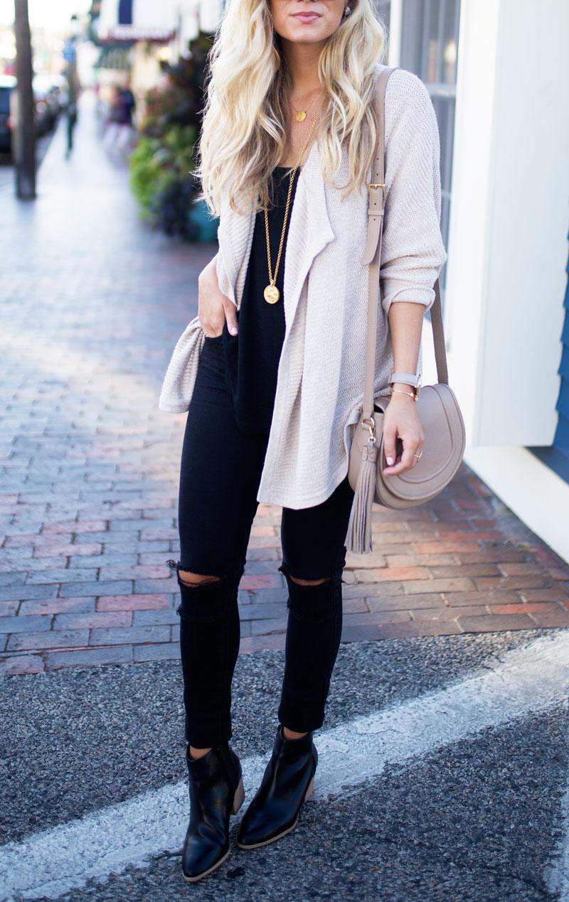 madewell-cardigan-distressed-black-jeans-black-booties-saddle-bag