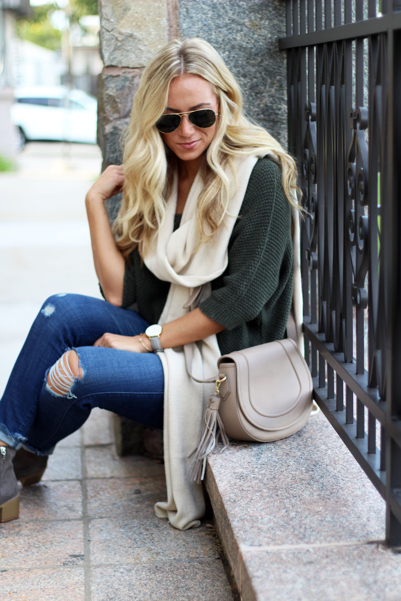 olive-sweater-cream-scarf-gigi-new-york-crossbody