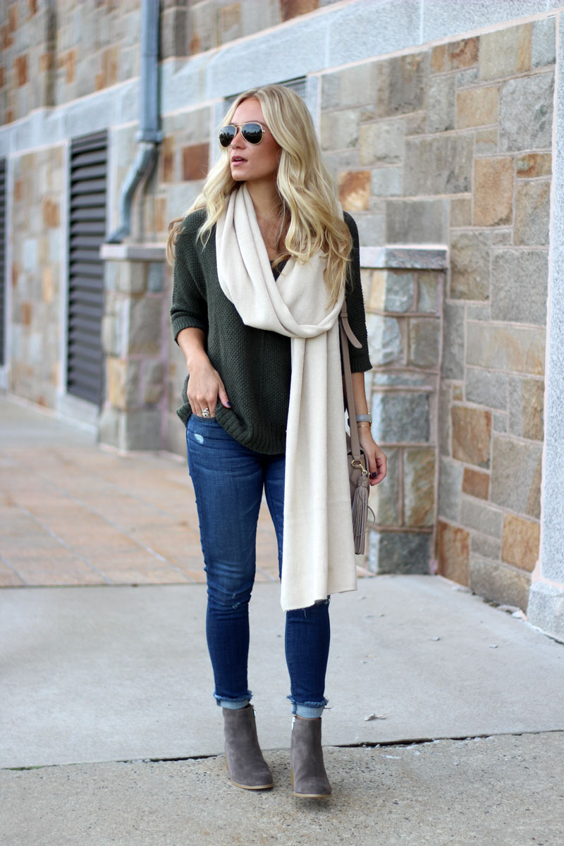oversized-olive-sweater-cream-sweater-ripped-jeans-fall-style