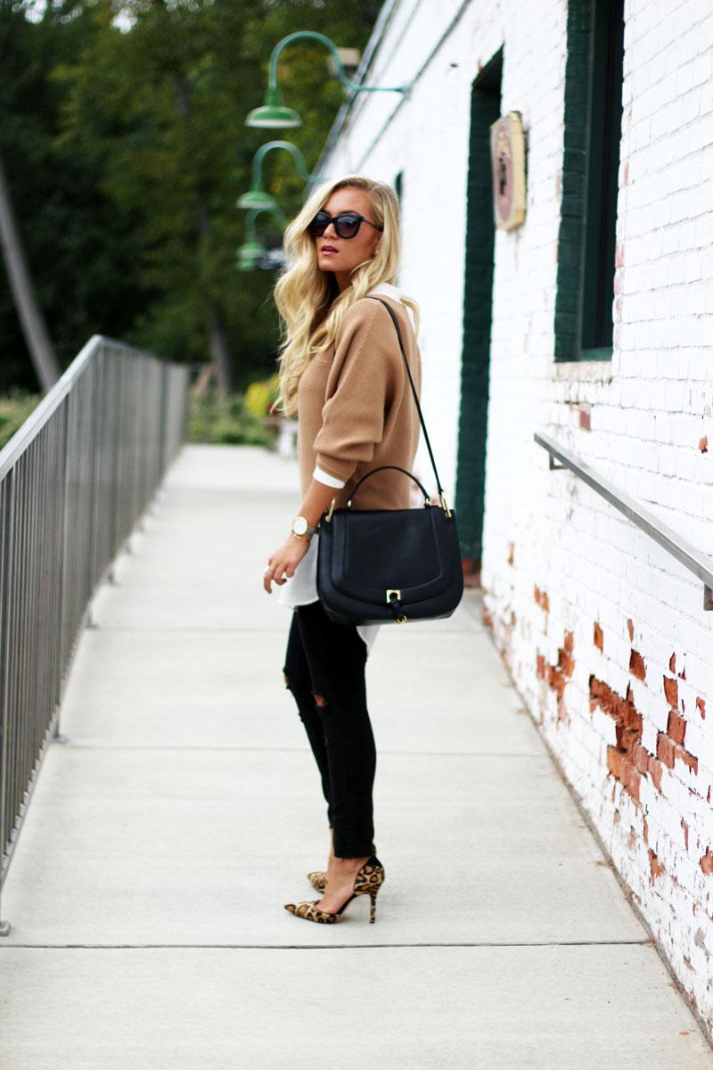 style-cusp-fall-layering-dolman-sweater-with-tunic-leopard-pumps-classic-black-handbag