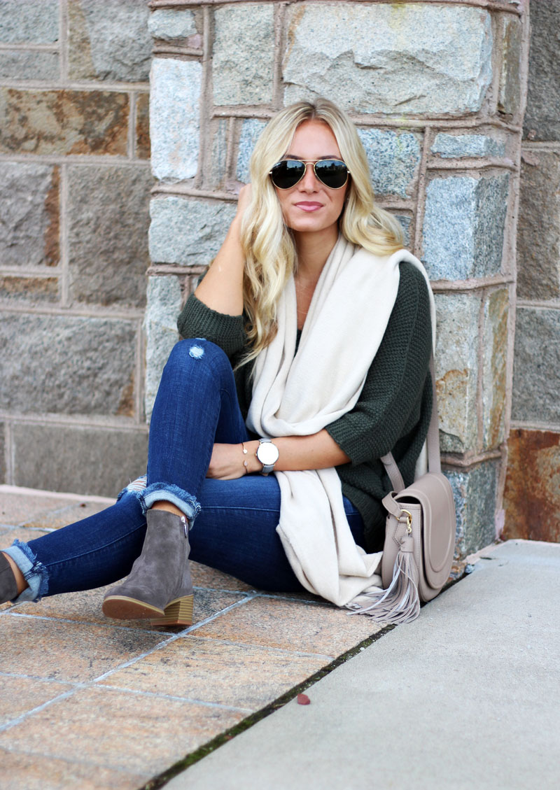 style-cusp-fall-zappos-style-clarks-booties-oversized-cream-scarf