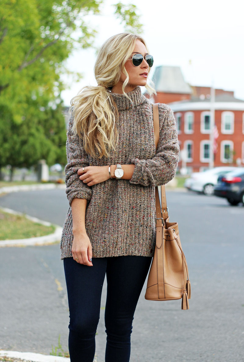 abercrombie-knit-turtleneck-cardigan-dark-denim-jegging-brown-bucket-bag