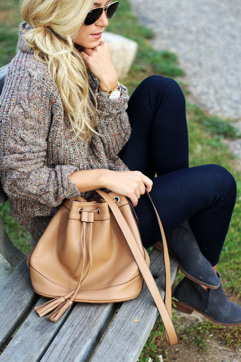 knit-sweater-tan-bucket-bag-dark-denim-gray-booties
