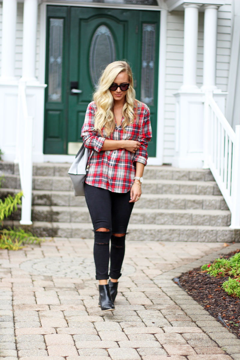 madewell-plaid-flannel-nordstrom-black-jeans-sole-society-booties