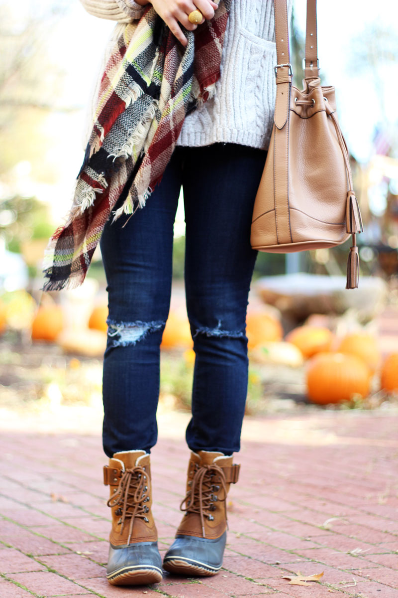 newest collection more photos cheap for discount sorel-boots-zappos-plaid-scarf-fall-style - Style Cusp