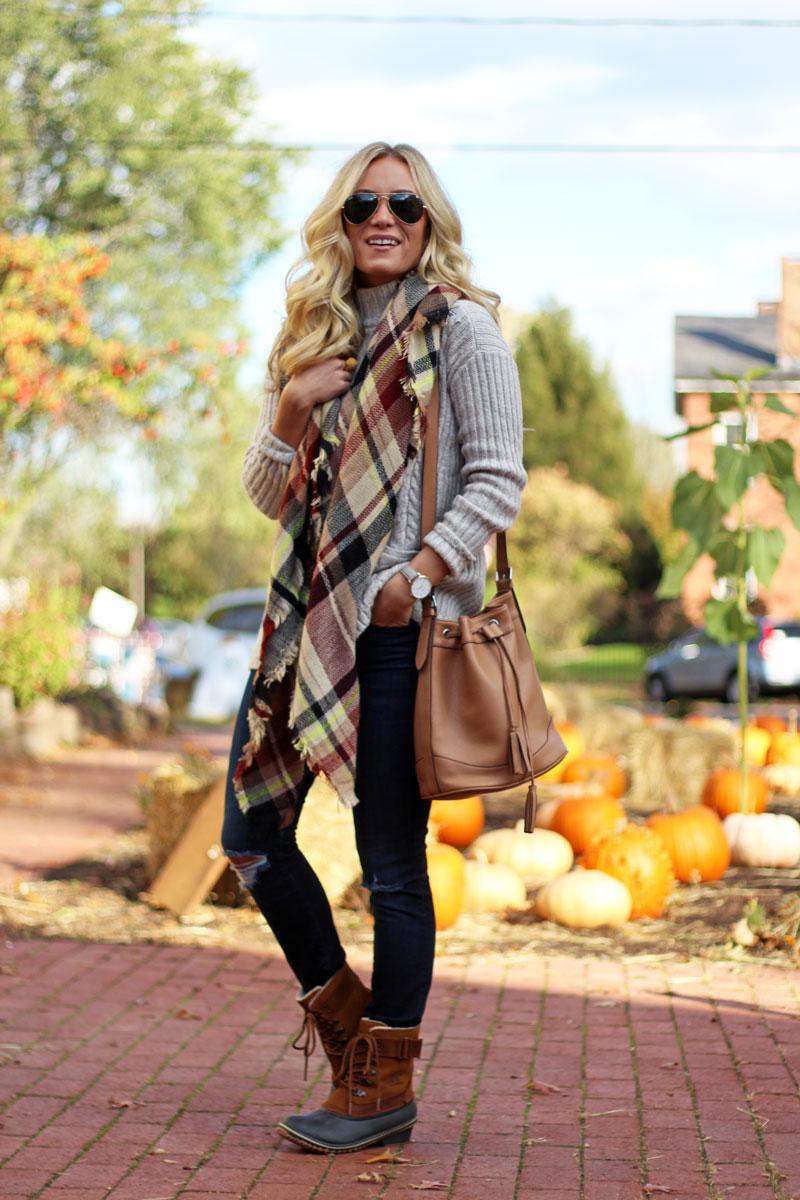 sorel-winter-boots-stylish-fall-blanket-scarf-cozy