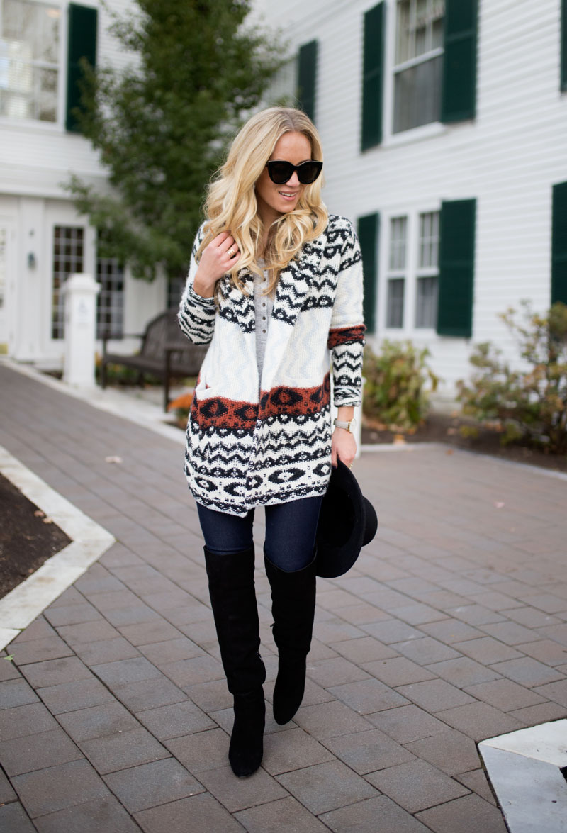 abercrombie-fall-printed-cardigan-button-up-henley-over-the-knee-boots