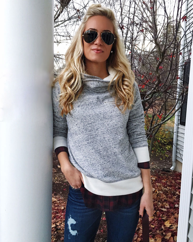 abercrombie-fleece-pullover-loose-plaid-shirt-ripped-jeans-weekend-style-cyber-monday