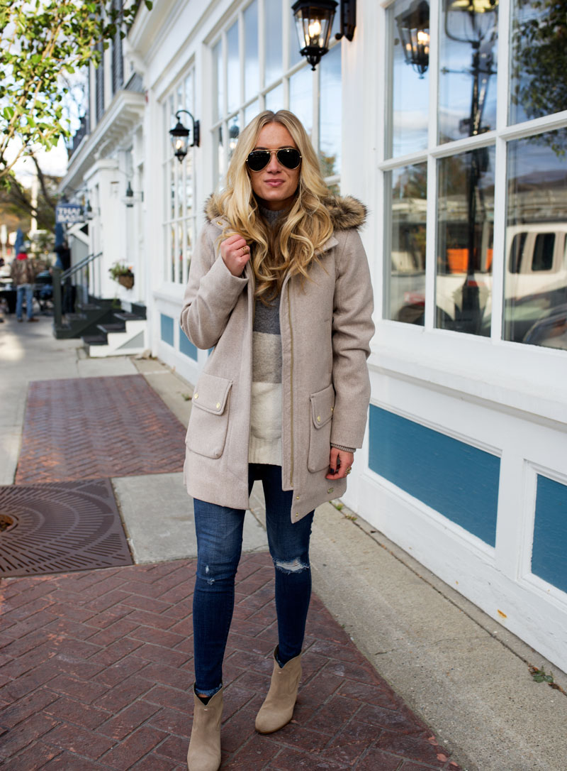 abercrombie-heritage-parka-fur-hood-ripped-jeans-fall-outfits