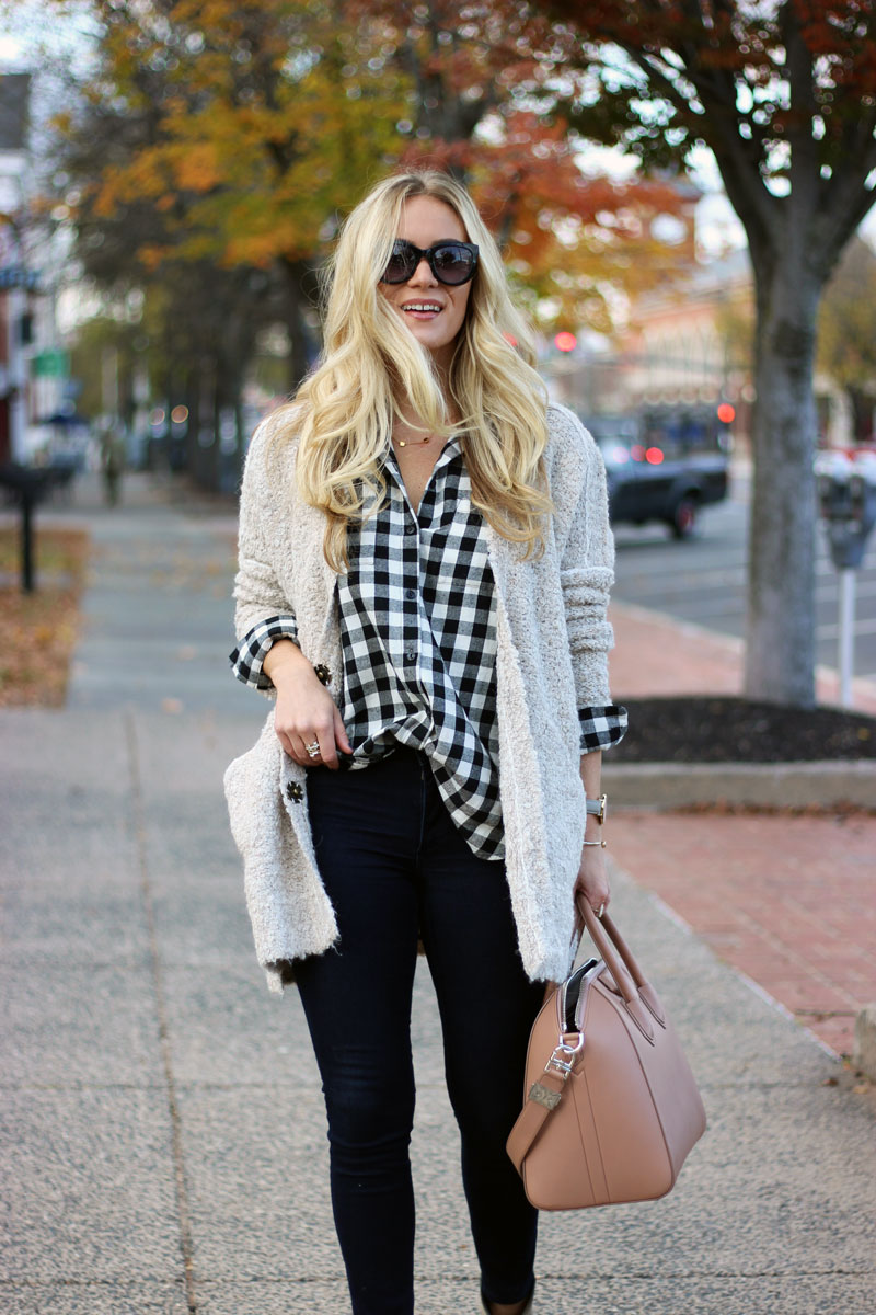buffalo-plaid-check-top-free-people-cardigan-fall-style