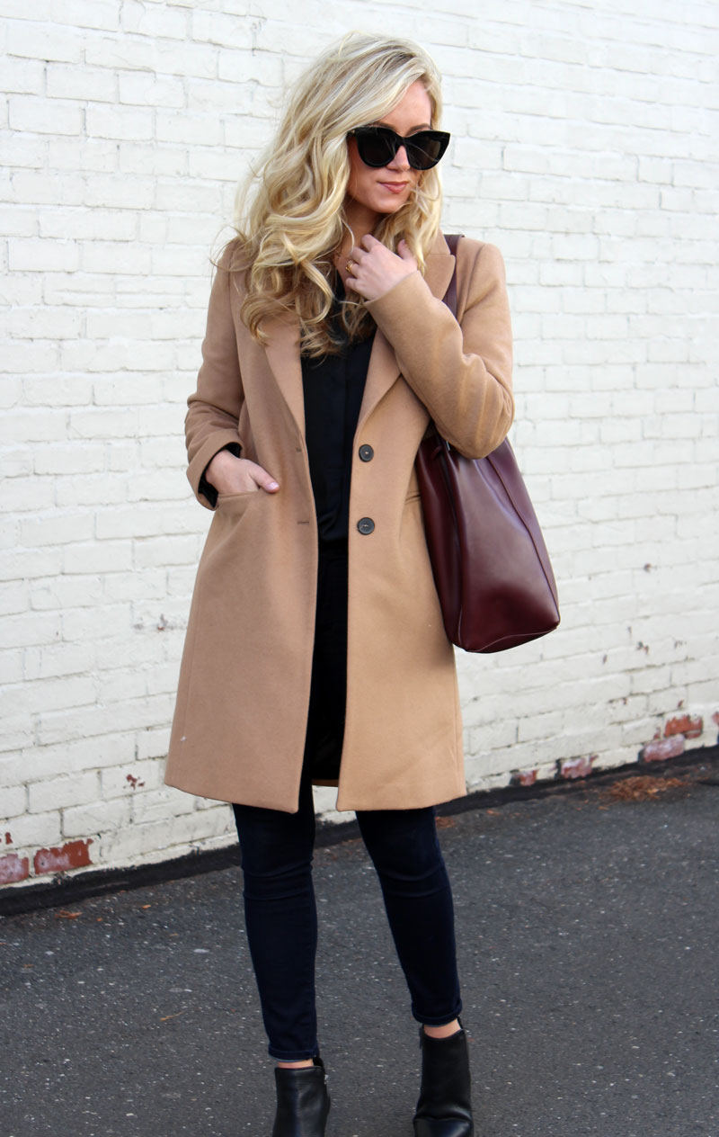 342a0cd443e camel-coat-vince-camuto-maroon-bucket-bag - Style Cusp