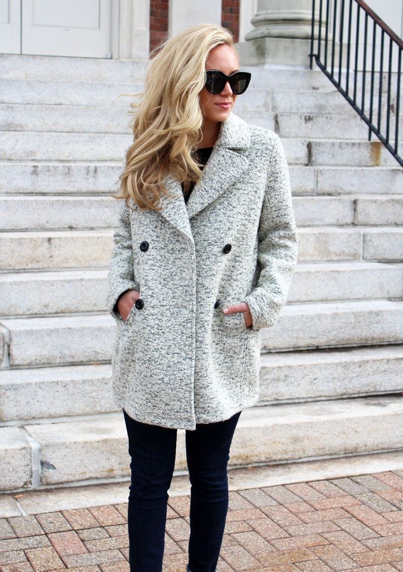 cozy-winter-wool-pea-coat-abercrombie-black-friday-sales-le-spec-sunglasses
